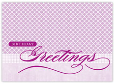 Amethyst Patterns Birthday Card