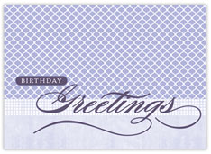 Purple Patterns Birthday Card