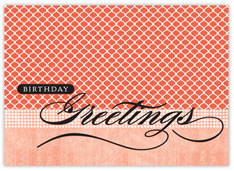 Orange Patterns Birthday Card