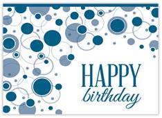 Geometric Blue Birthday Card