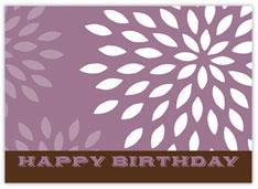 Purple Blossoms Birthday Card
