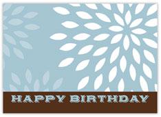 Blue Blossoms Birthday Card