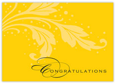 Basic Words Congratulations Card