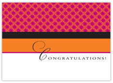 Color Blocking Congratulations Card