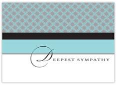 Color Blocking Sympathy Card