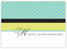 Color Block Anniversary Card