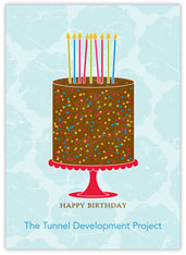 Colorful Display Birthday Card