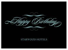 Elegant Wishes Birthday Card