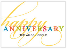 Golden Flourish Anniversary Card
