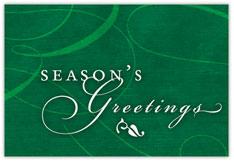 Green Swirls Holiday Postcard