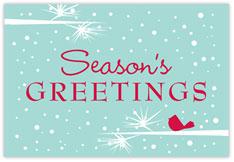 Winter Perch Blue Holiday Postcard