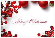 Christmas Trimmings Holiday Postcard