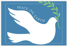 Wings of Peace Holiday Postcard
