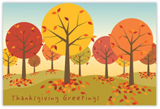 Autumn Grove Thanksgiving Postcard