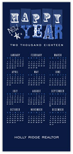 Blue & New Year Calendar
