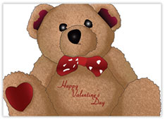 Teddy Bear Value Valentine