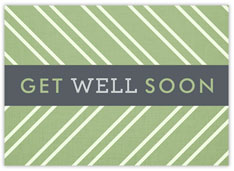 Sage Stripe Get Well