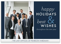 Corporate Holiday Wishes Photocard