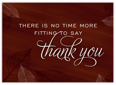 Burgundy Leaves of Thanks