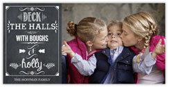 Deck the Halls Chalkboard Photo Card