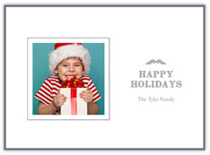 Holiday Laurels Photo Card
