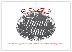 Simple Thank You Ornament