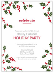 Jolly Holly Invitation
