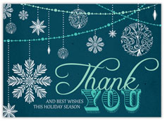 Snowy Teal Thank You