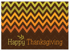 Ombre Chevron Thanksgiving