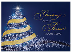Starry Tree Holiday Card