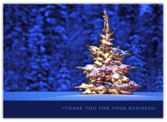 Glowing Thank You Holiday Card