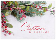 Blessings Christmas Card