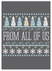Snowmen Team Holiday Card