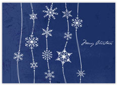 Midnight Blue Snowfall Holiday Card