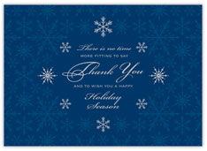 Snowflake Thank You Holiday Card