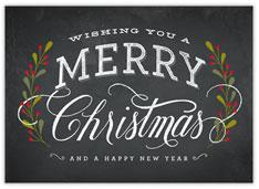 Christmas Chalk Art Card