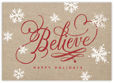 Believe! Christmas Card