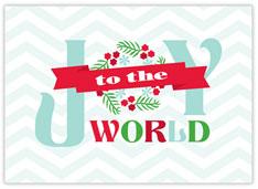 Chevron Joy Holiday Card