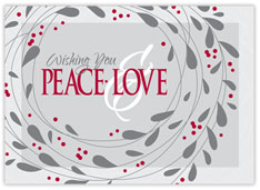 Peace and Love Holiday Card