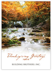 Brilliant Canopy Thanksgiving Card