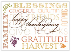 Shared Blessings Thanksgiving Card