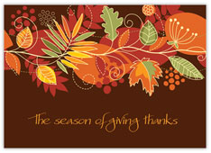 Giving Thanksgiving Card