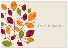 Modern Change Thanksgiving Card