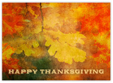 Hues of Autumn Thanksgiving Card
