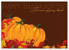 Pretty Patch Thanksgiving Card