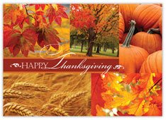 Bountiful Wishes Thanksgiving Card