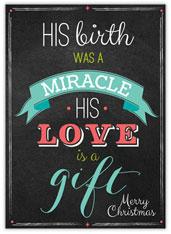 Chalkboard Christmas Miracle