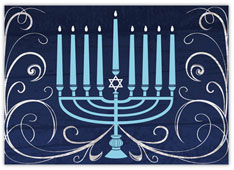 Radiant Blue Menorah