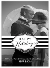 Black and White Holiday Photo Card