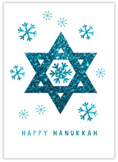 Brilliant Blue Hanukkah
